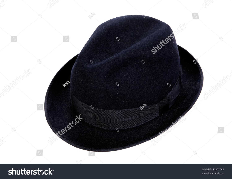 Old black hat on white background stock photo edit now jpg 1500x1161 Old  black hat 2502f1255dd3
