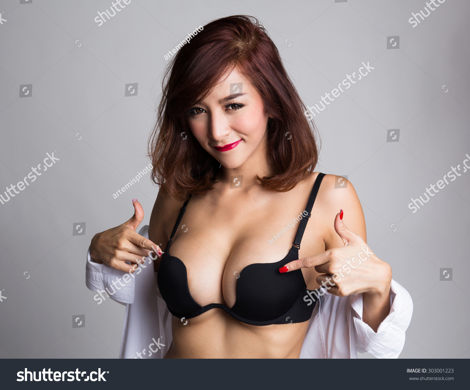 sexy asian woman showing her sexy stock photo (edit now) 303001223