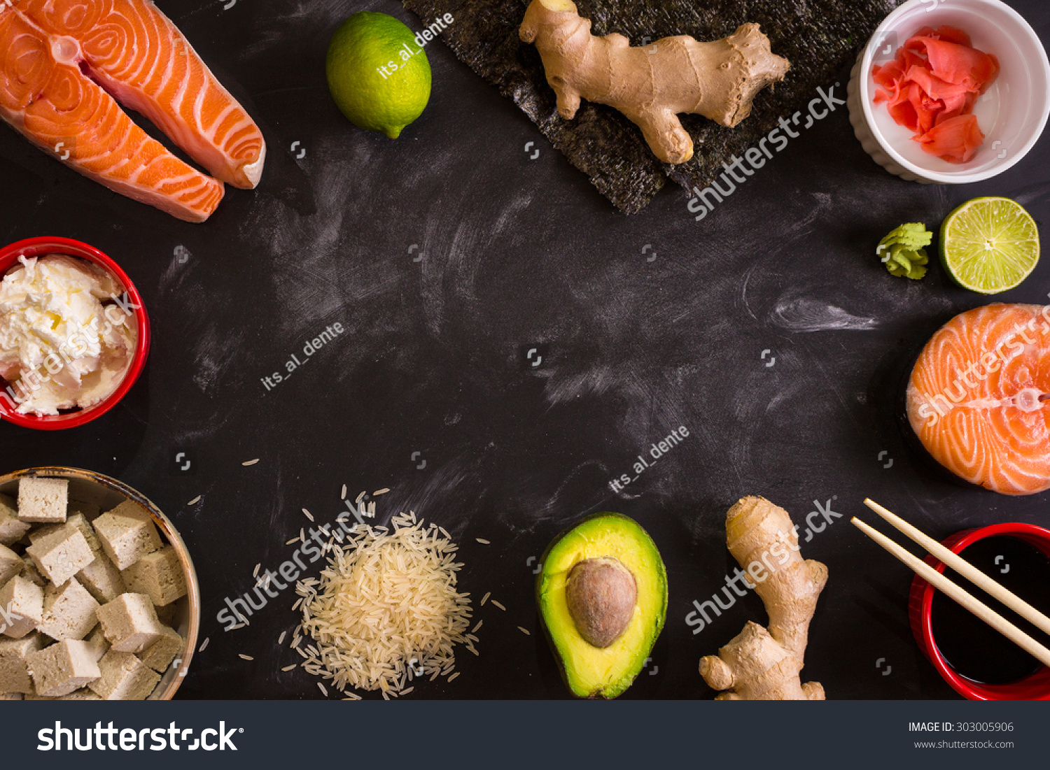 Online image photo editor shutterstock editor for Asian cuisine ingredients
