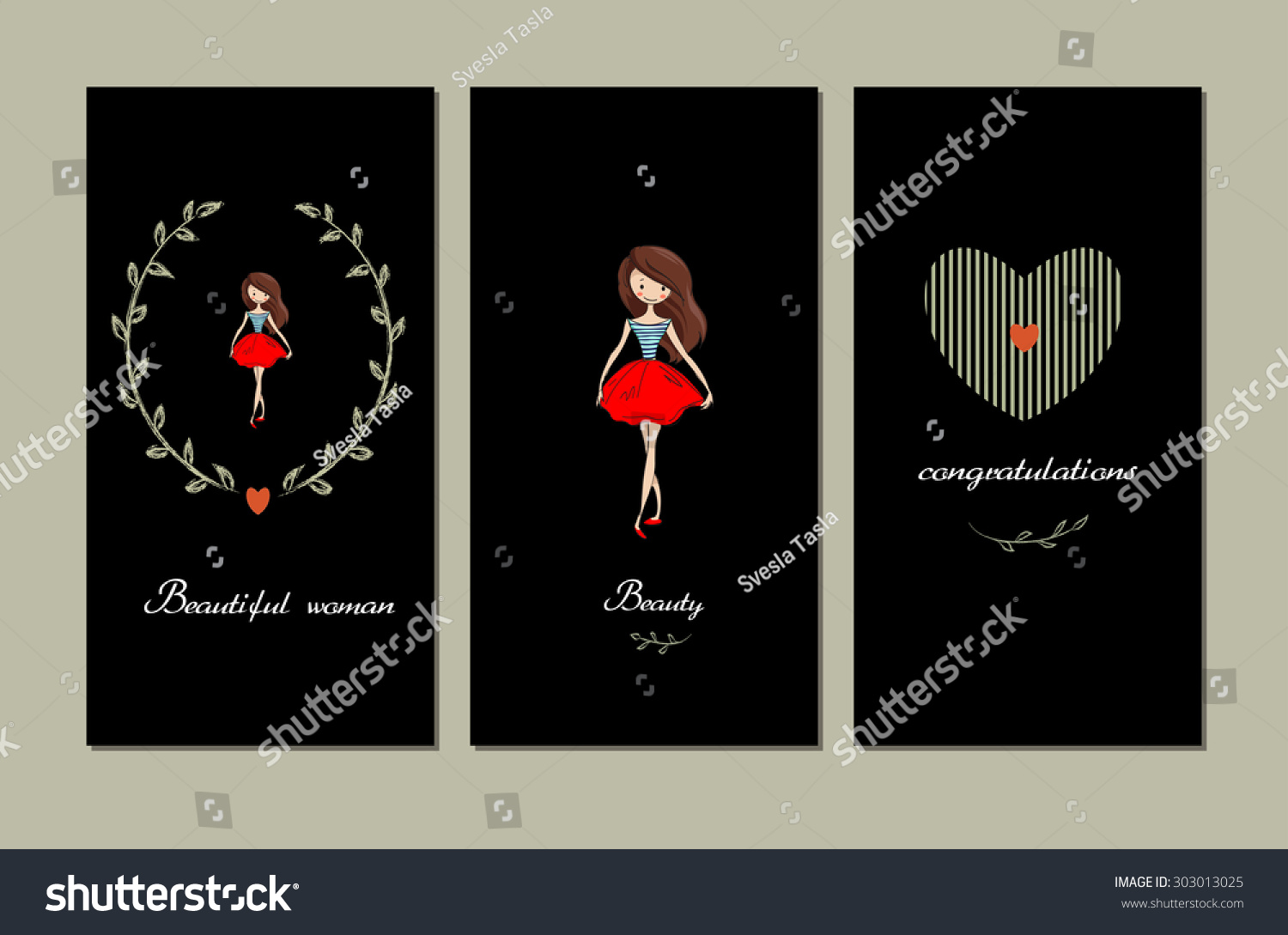Handsketched Templates Beautiful Girl Suitable Ads Stock Vector