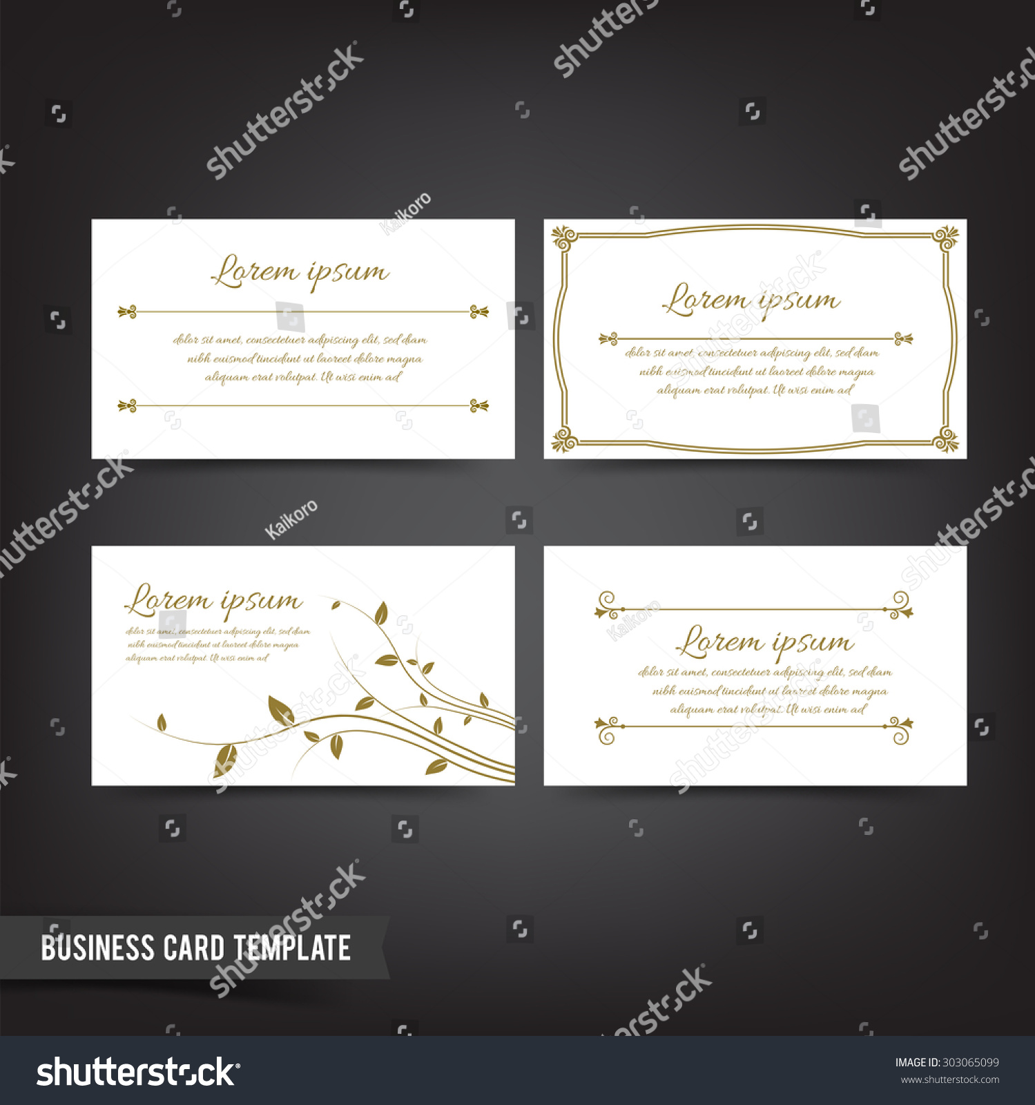 Clear Minimal Design Business Card Template Stock Vector