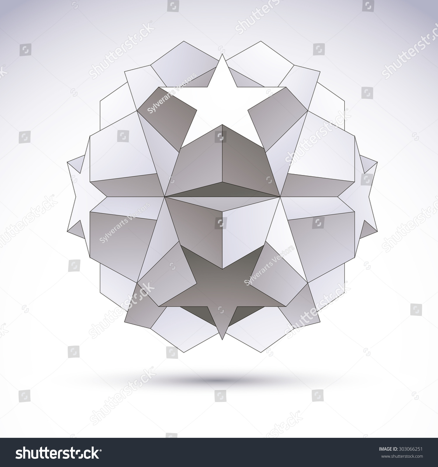 Vector Abstract 3 D Object Design Element Stock Vector (Royalty Free ...