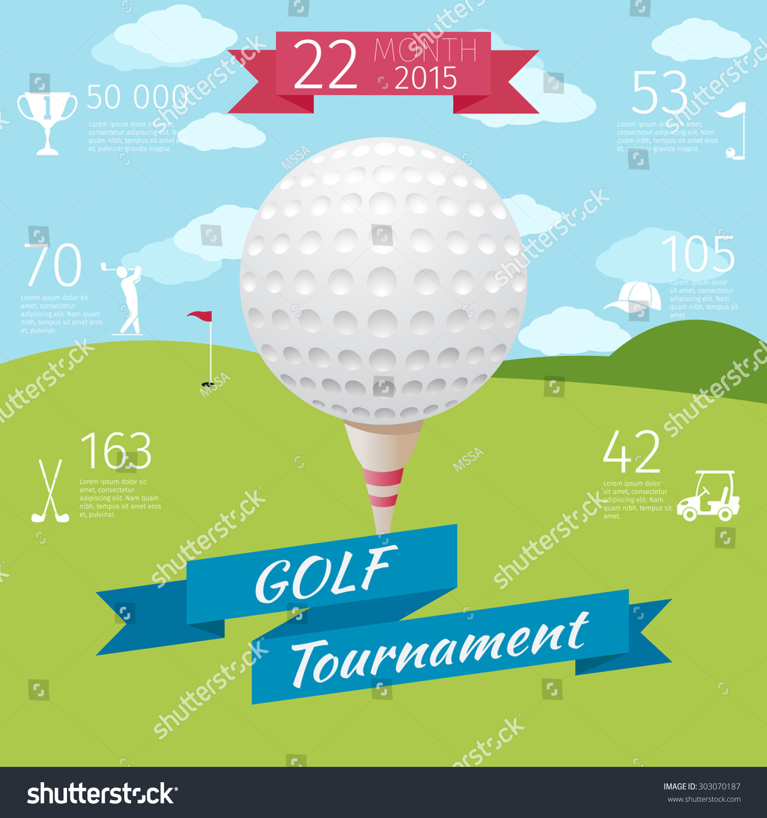 Poster design competition 2015 - Golf Poster Design Competition Sport Tournament Game Banner Golfing And Play