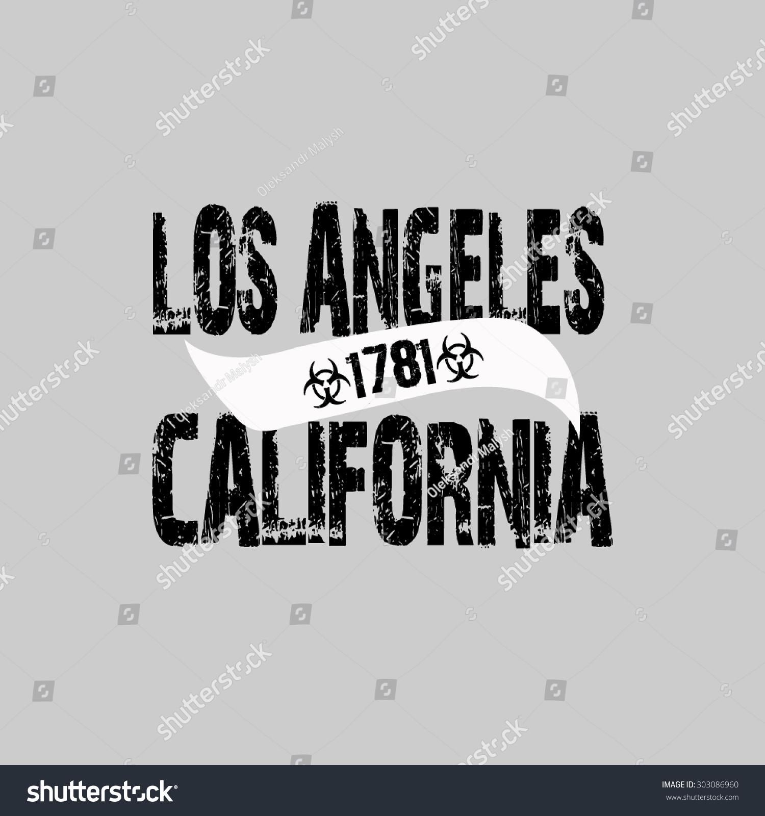 Shirt design los angeles - Fashion Typography Graphics Los Angeles California Sport T Shirt Design Vector Illustration