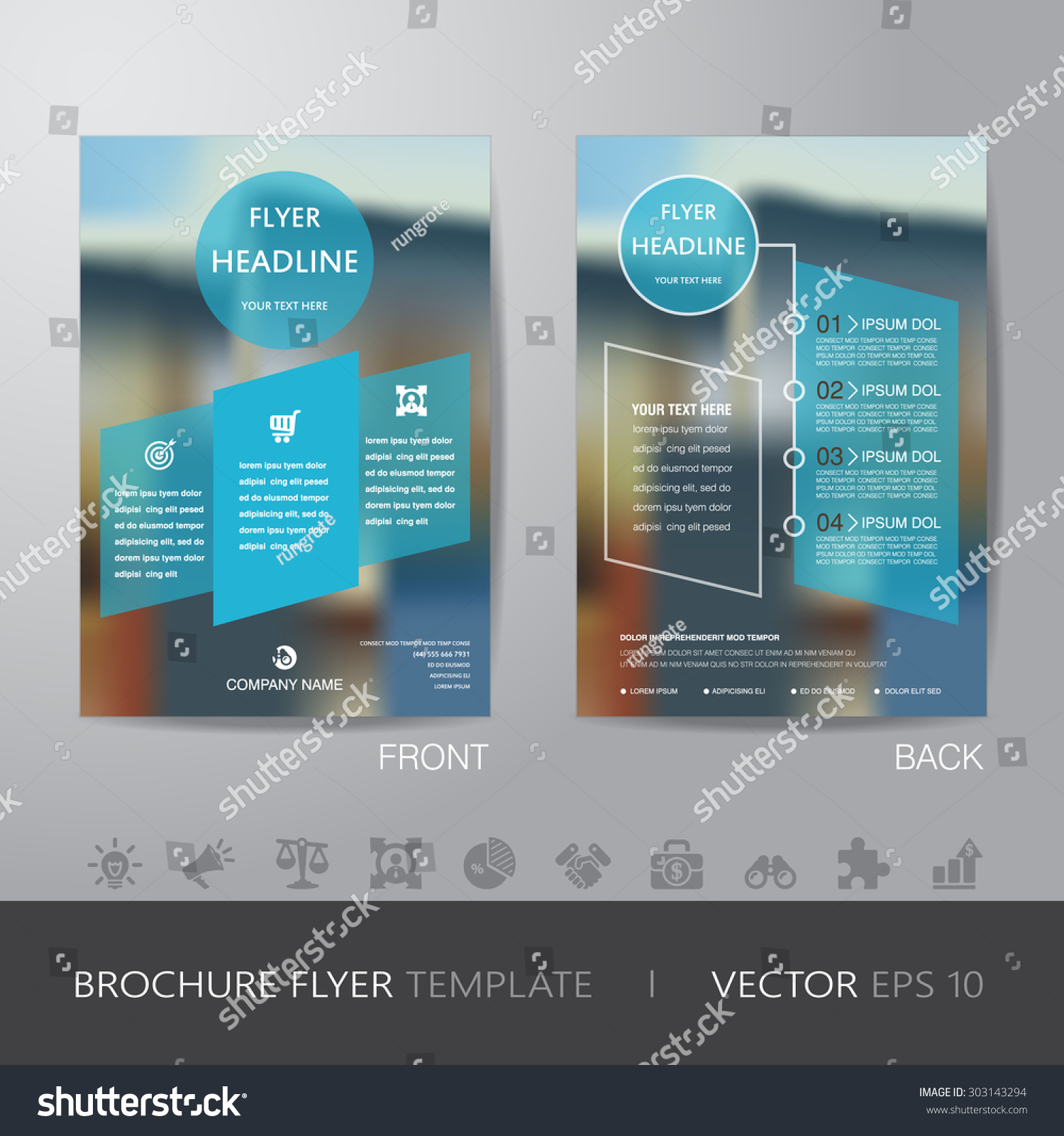 corporate blur background brochure flyer design stock vector corporate blur background brochure flyer design layout template in a4 size icon for your