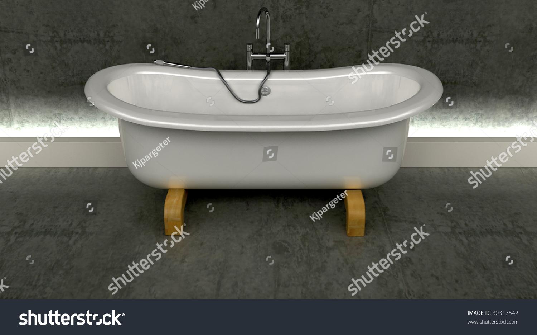 3 D Render Classic Roll Top Bath Stock Illustration 30317542 ...
