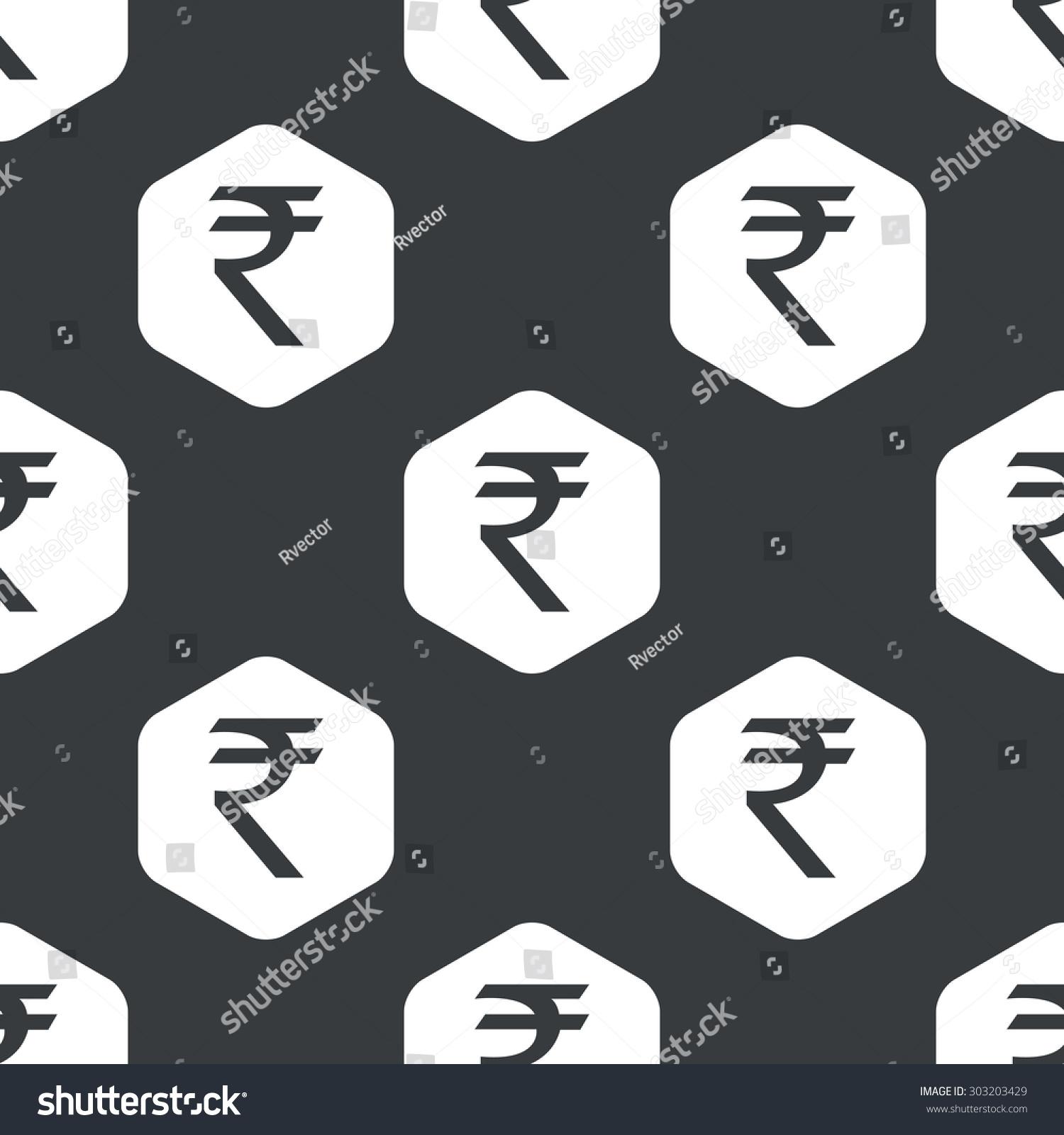 Image indian rupee symbol hexagon repeated stock vector 303203429 image of indian rupee symbol in hexagon repeated on black buycottarizona