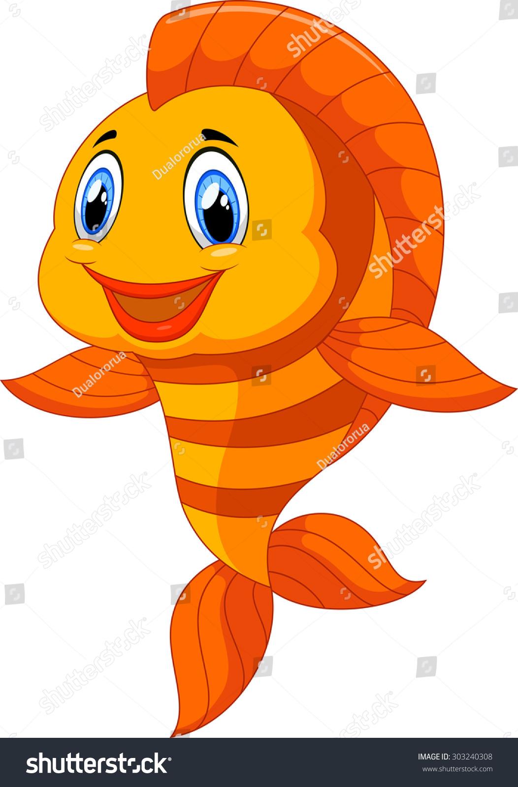 royalty free cute fish cartoon 303240308 stock photo avopix com