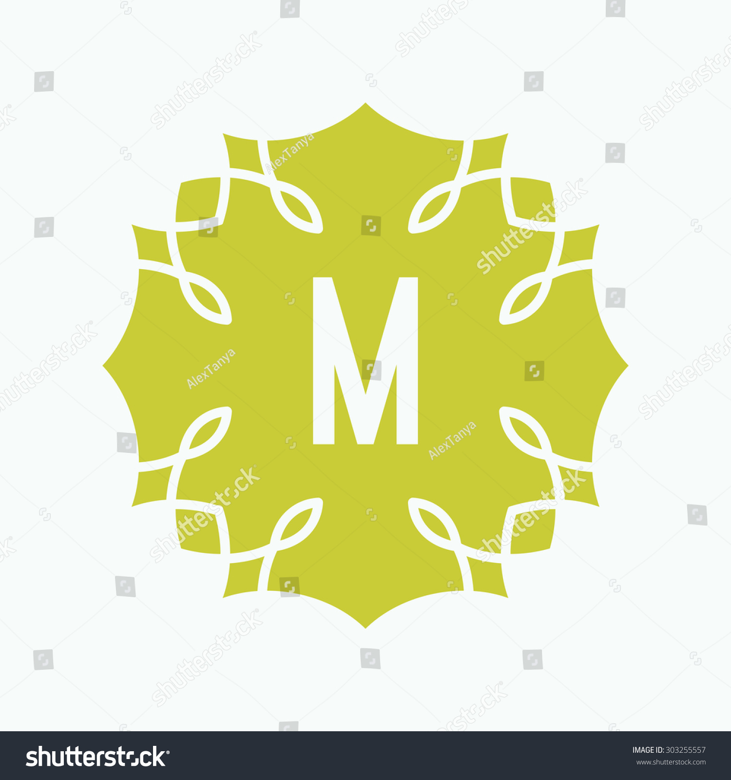 m letter shape icon design on stock vector (royalty free) 303255557