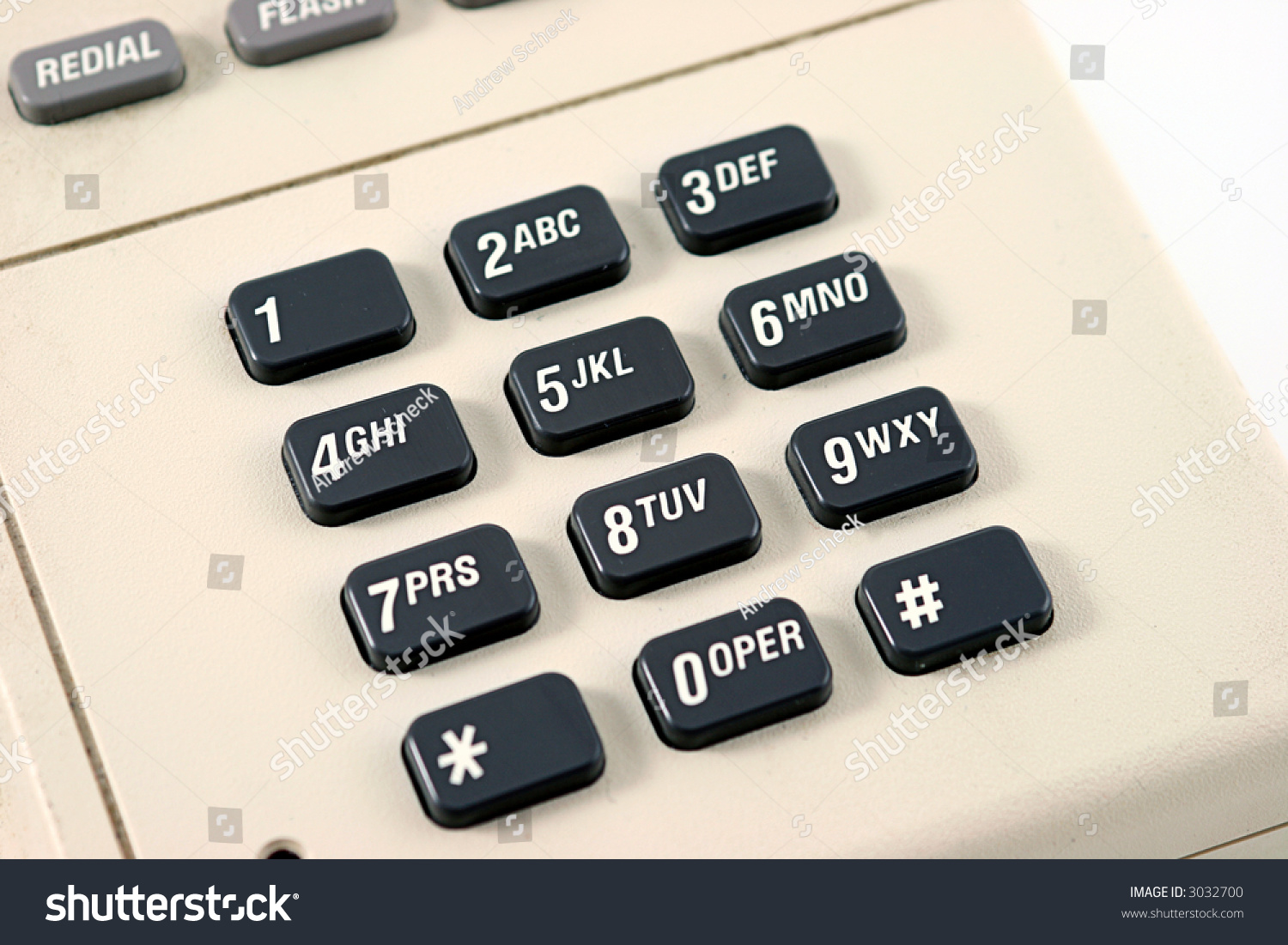 Touch Tone Phone Dial Pad Waiting Stock Photo 3032700 - Shutterstock