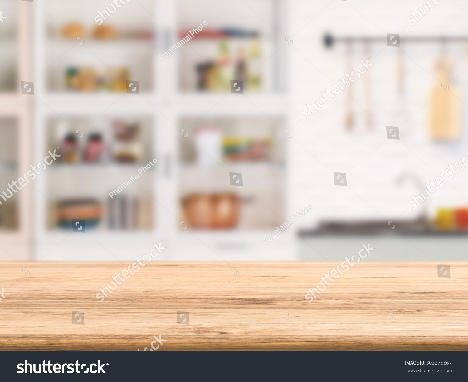 Kitchen Cabinet With Table Top