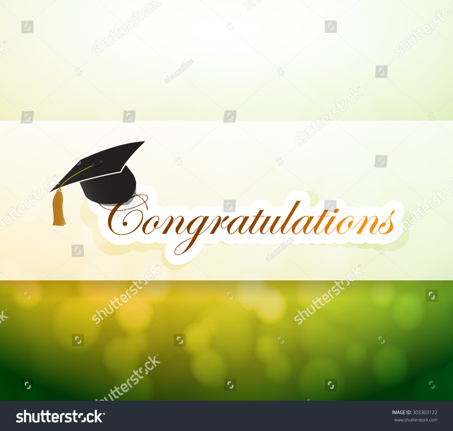 Graduation Congratulations Bokeh Light Sign Illustration ...
