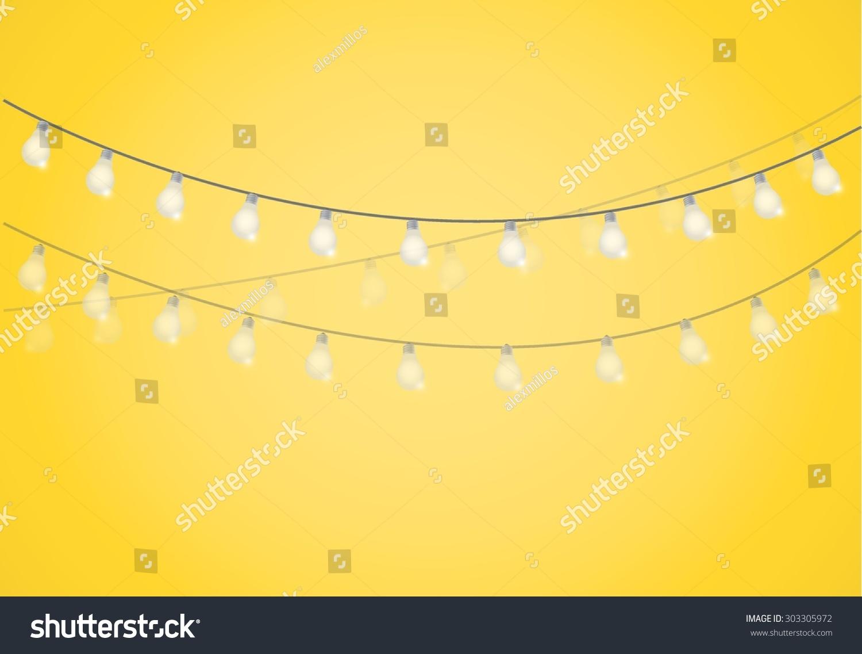 String Of Lights Illustration : String Lights Hanging Light Bulbs Illustration Stock Vector 303305972 - Shutterstock