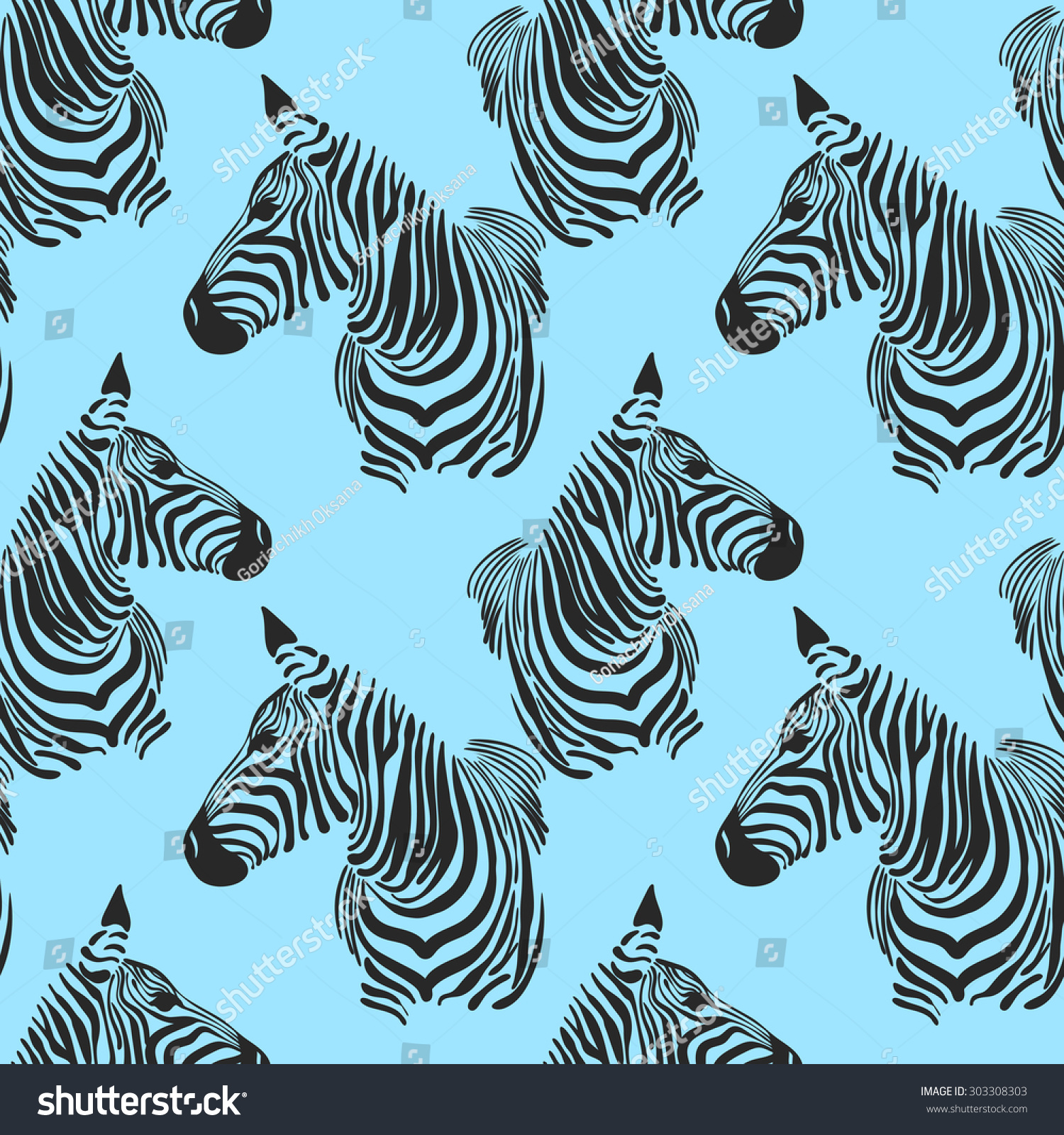vector pattern seamless wallpaper animal print stock vector
