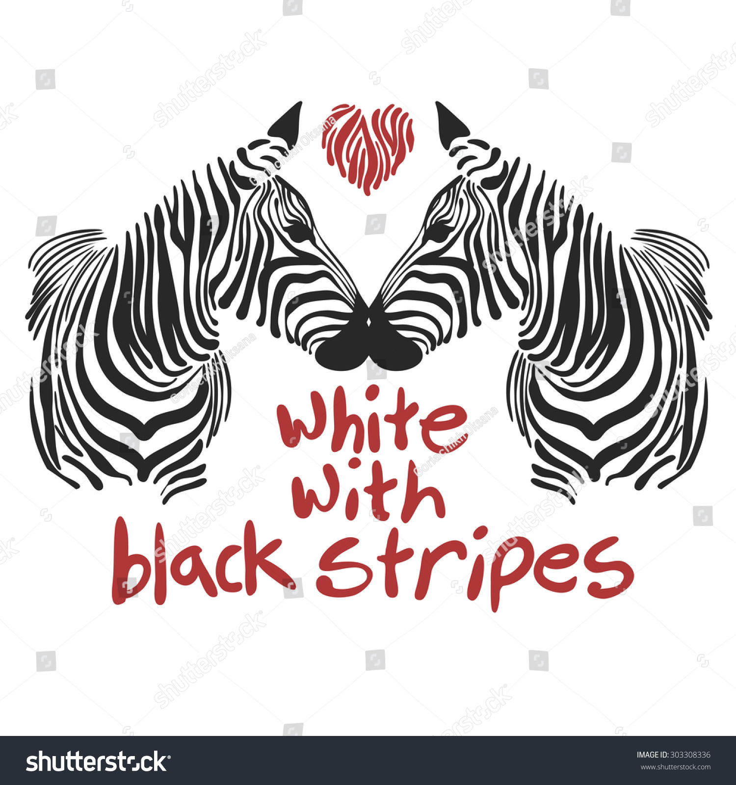 Zebra shirt design - Vector Image Of The Muzzle Zebra With Text Suitable For Printing On Your T