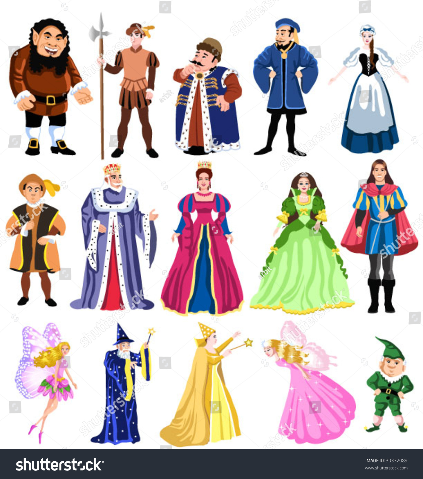 Fairy Tales Characters Stock Vector 30332089 - Shutterstock