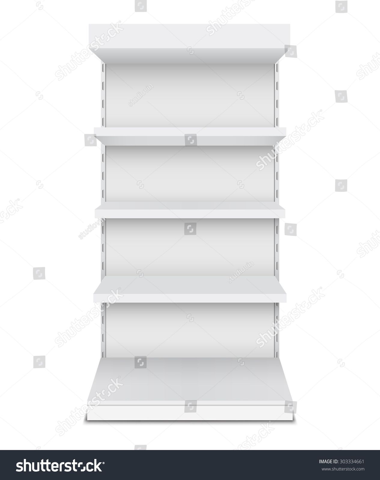 Exhibition Stand Shelves : Exhibition stand shelves isolated on white stock vector royalty