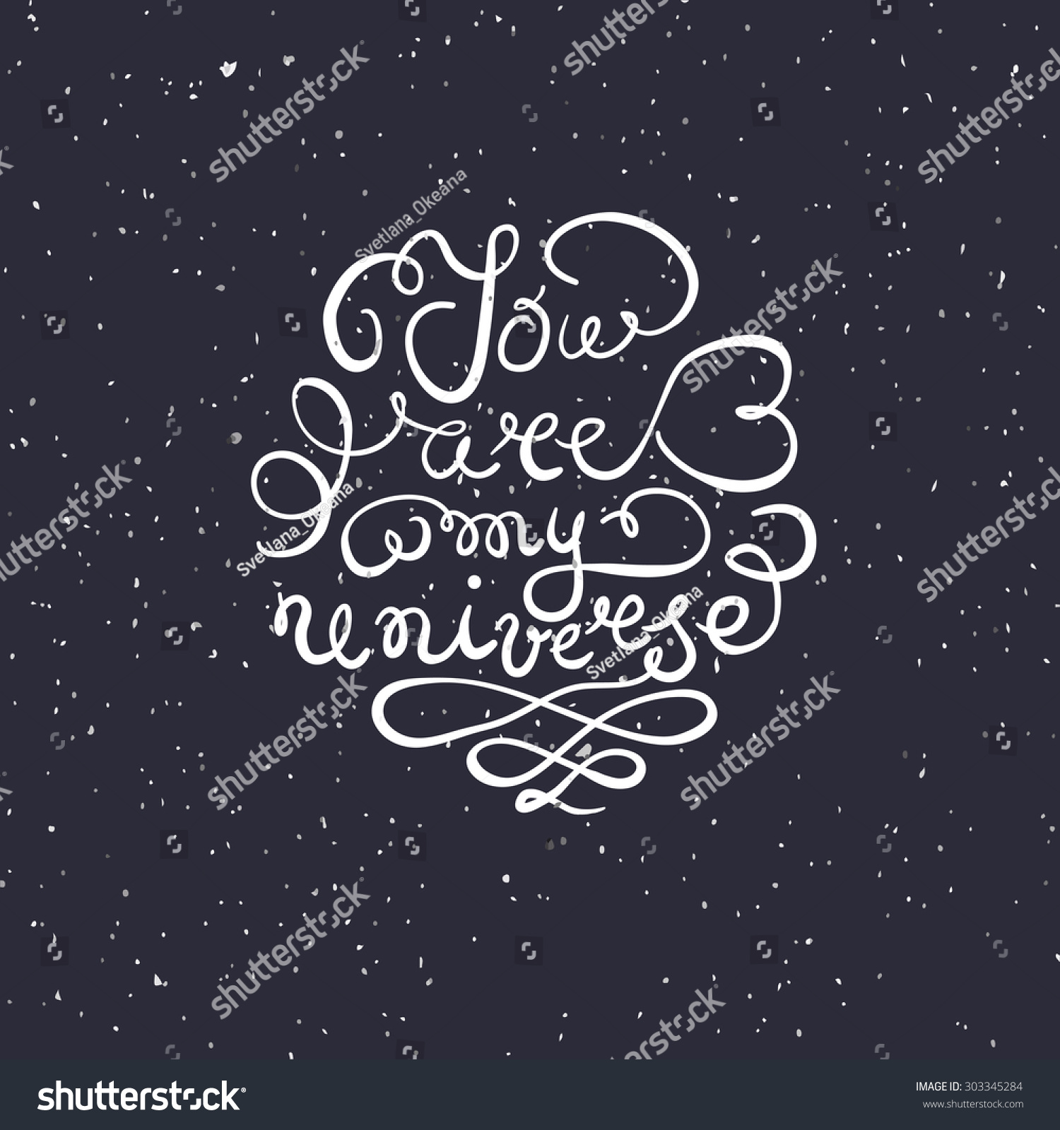 Background Hand Drawn Typography Poster Romantic Stock Vector (2018 ...