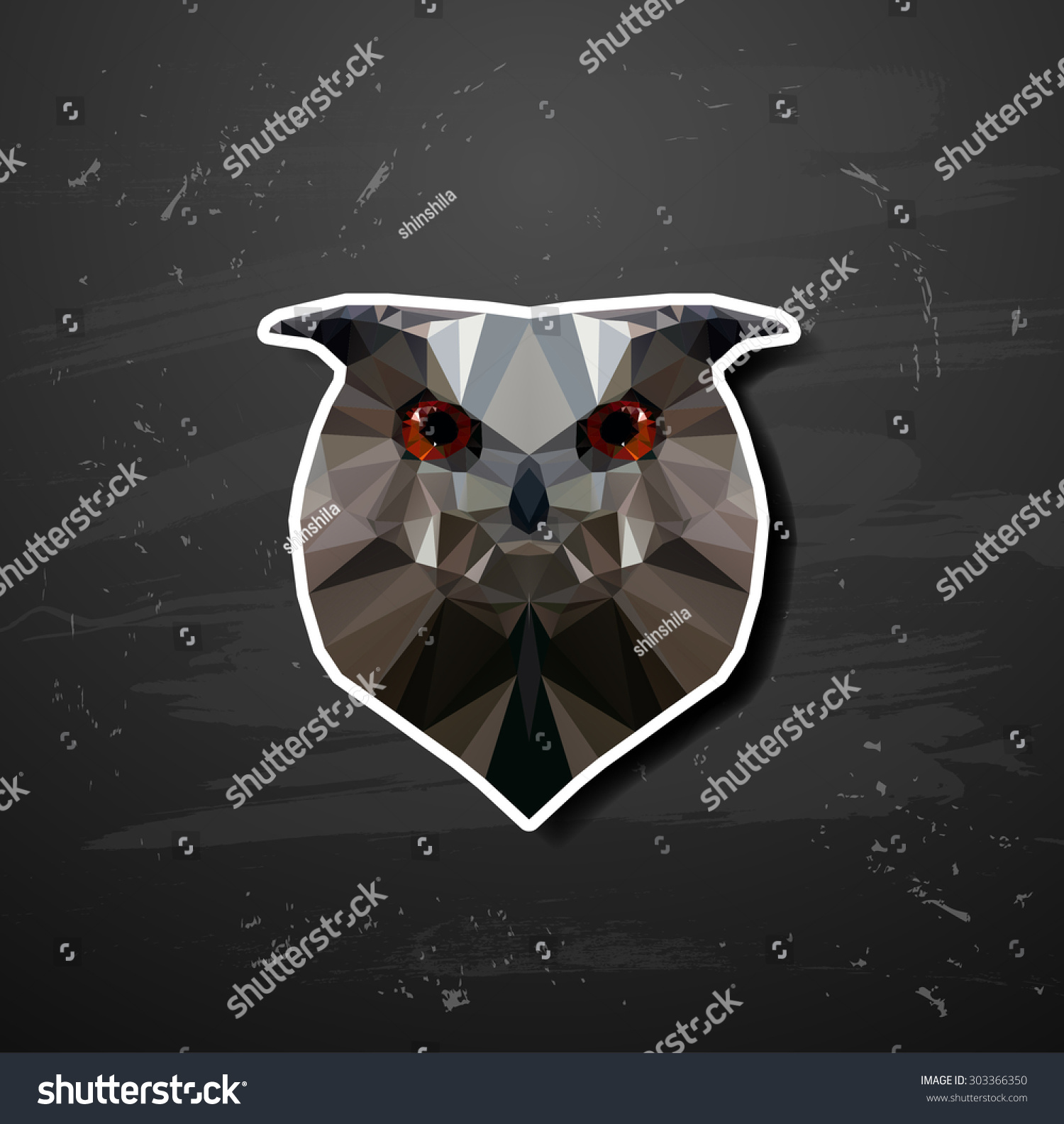 Vector Abstract Triangle Polygonal Owl Abstract Stock ... - photo#27