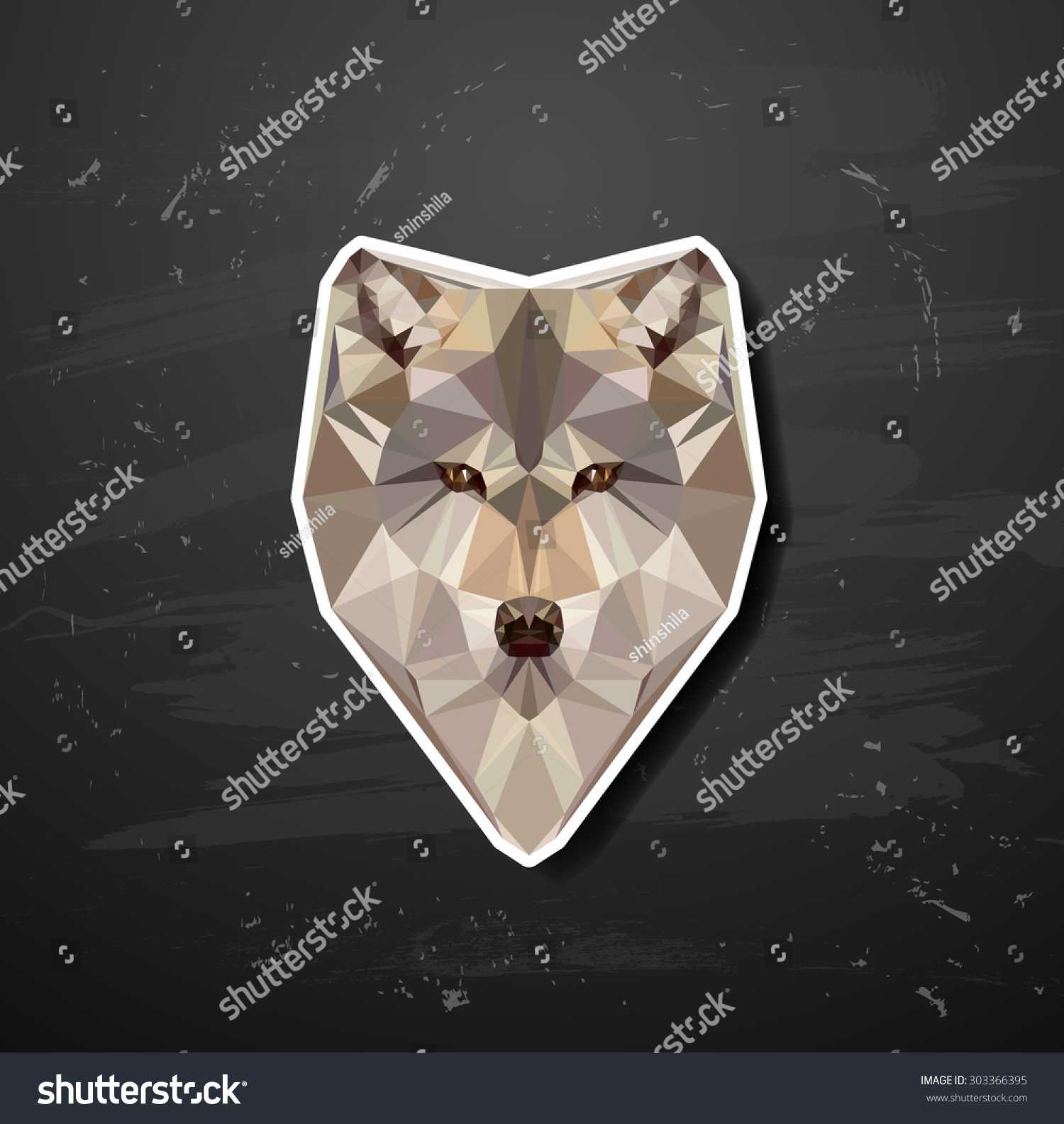 Vector Abstract Triangle Polygonal Wolf Snout Origami ... - photo#37