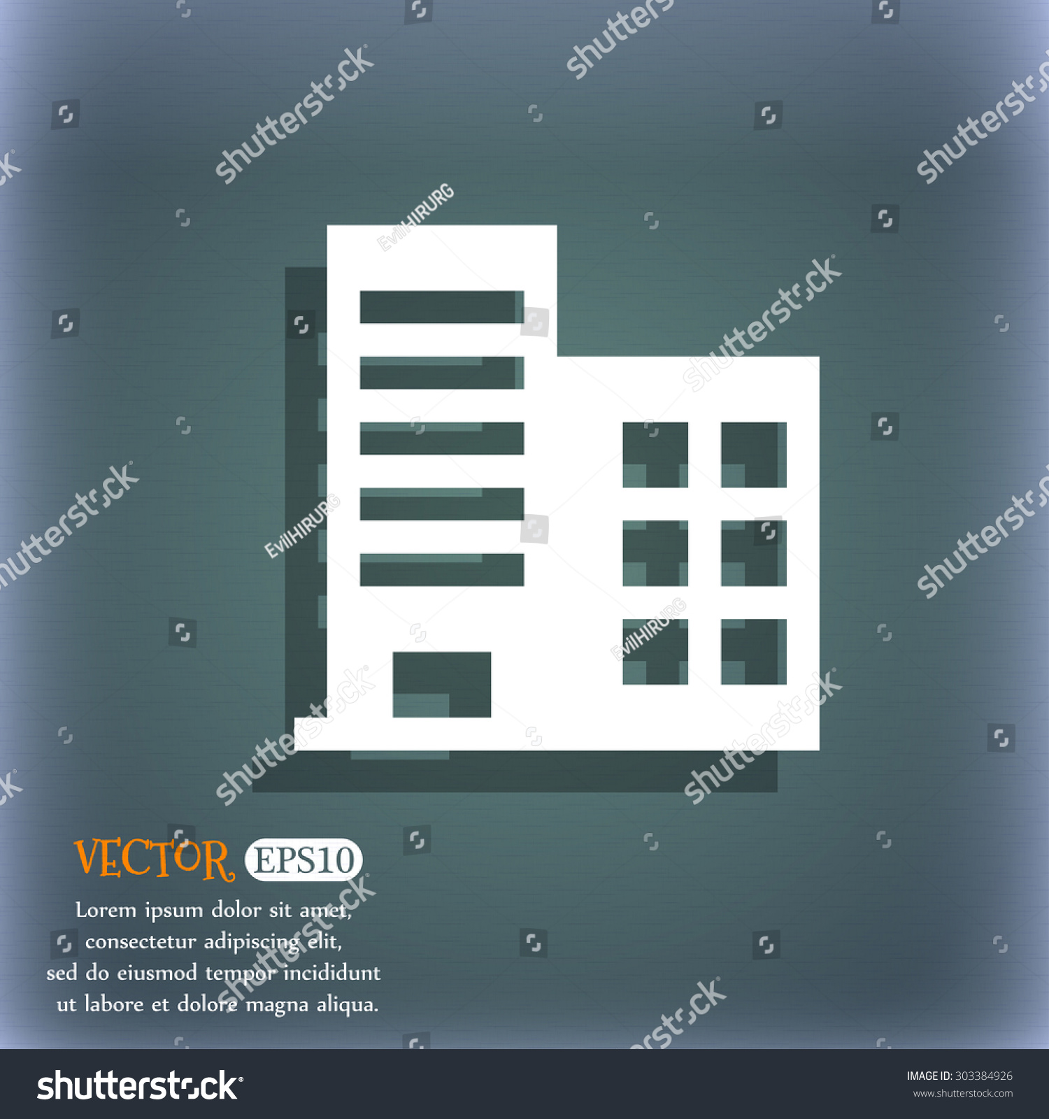 Rise Against Icon Stock Vector High Rise Commercial Buildings And Residential