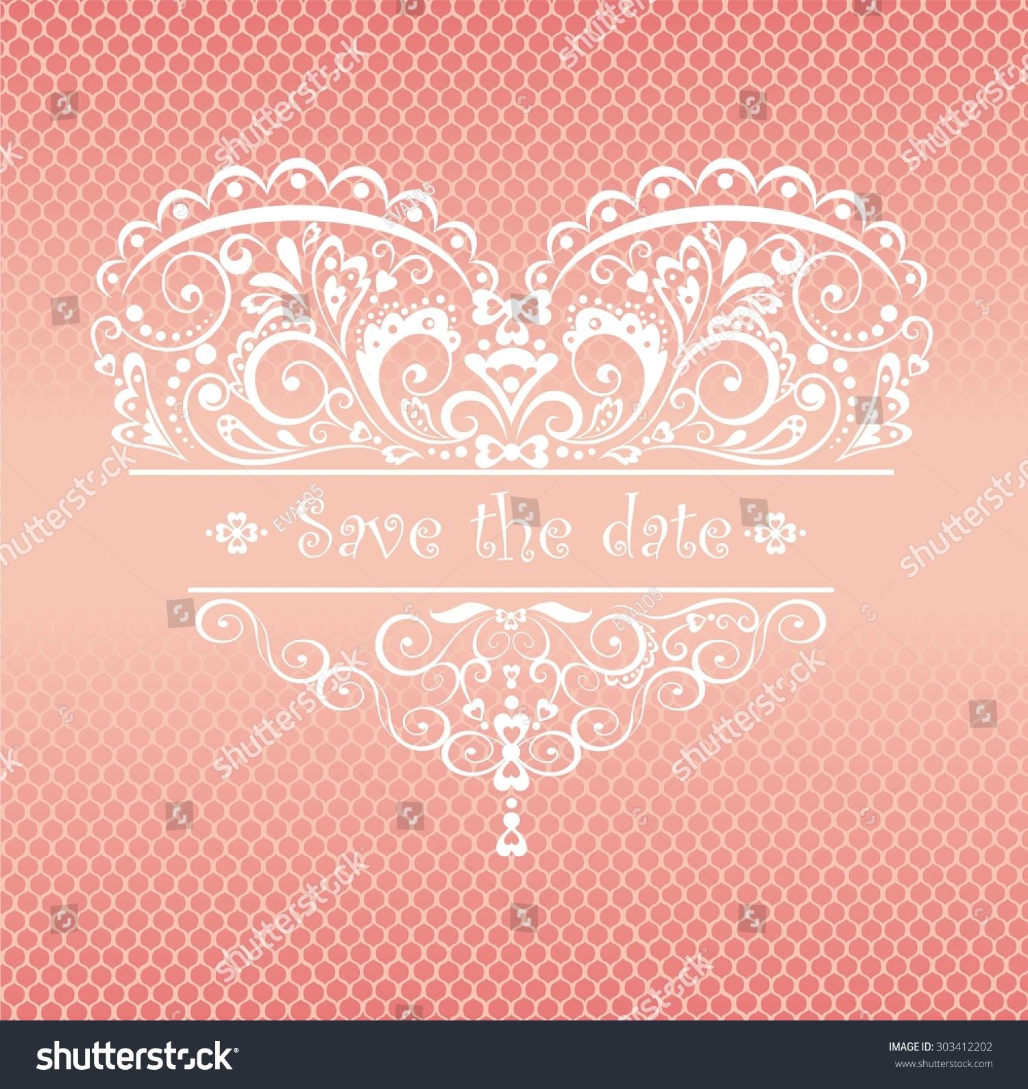 Lacy Greeting Wedding Ceremony Stock Illustration 303412202