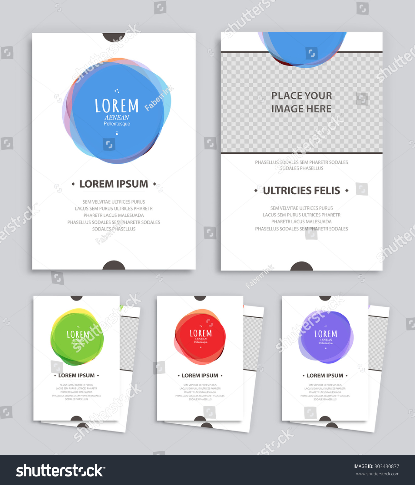Creative Brochure Templates Abstract Back Front Stock Vector - Creative brochure templates