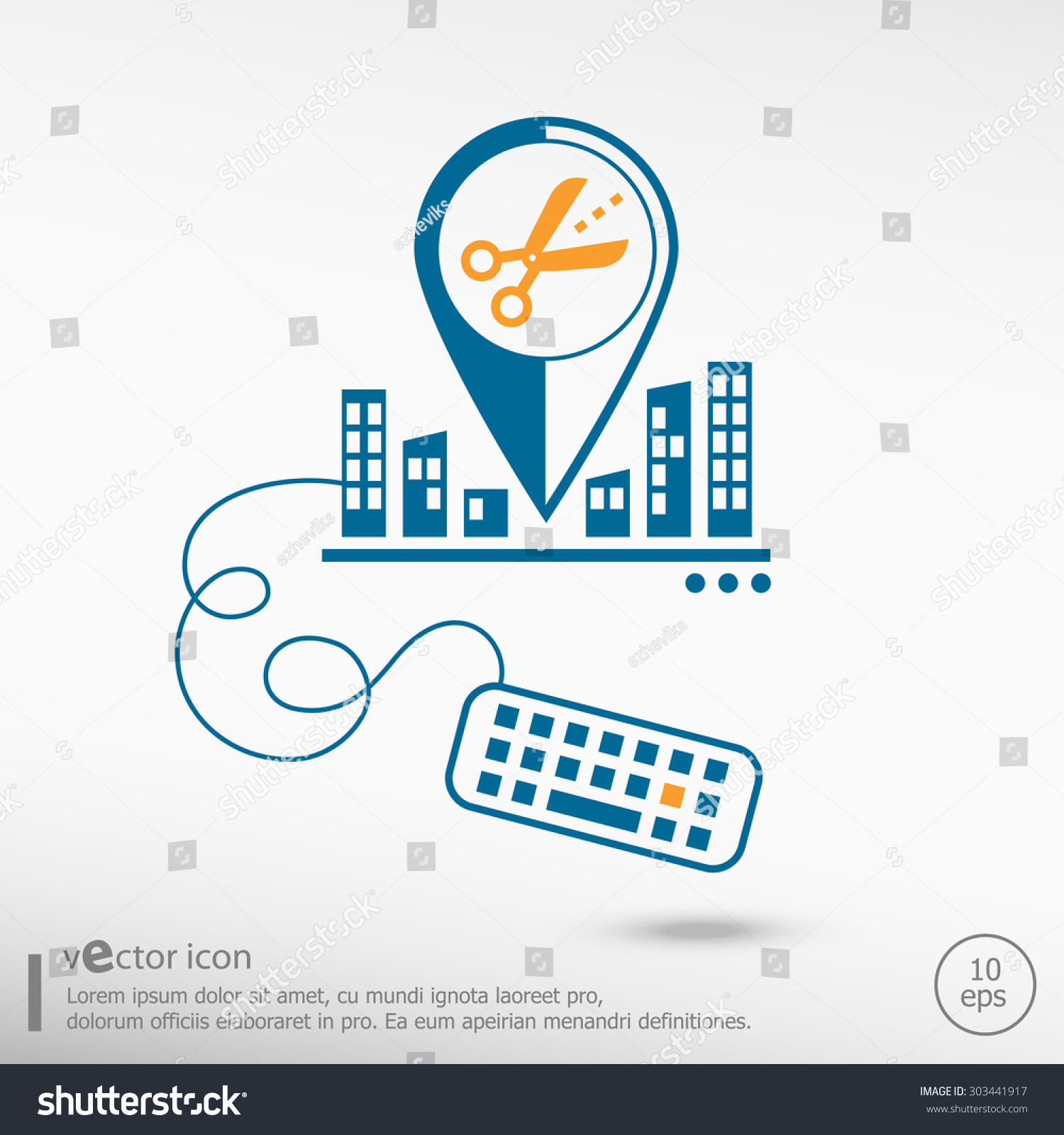 Scissors icon cut lines keyboard line stock vector 303441917 scissors icon with cut lines and keyboard line icons for application development creative process buycottarizona Image collections