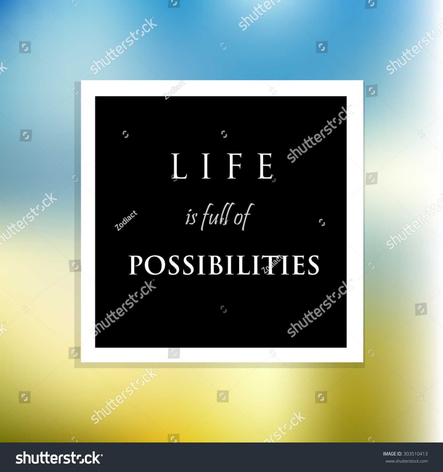 Inspiration Motivational Life Quotes On Vector Stock Vector Royalty