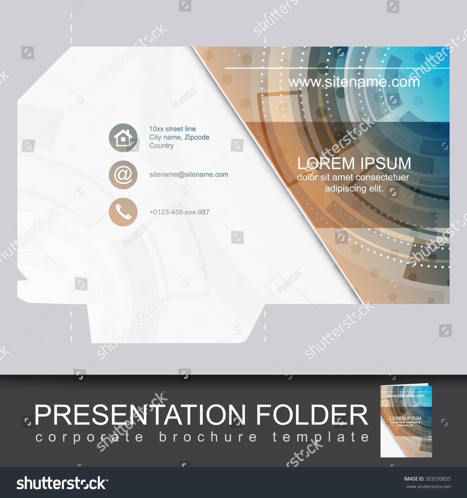 Vector Presentation Folder Design Templatecan Be Stock Vector
