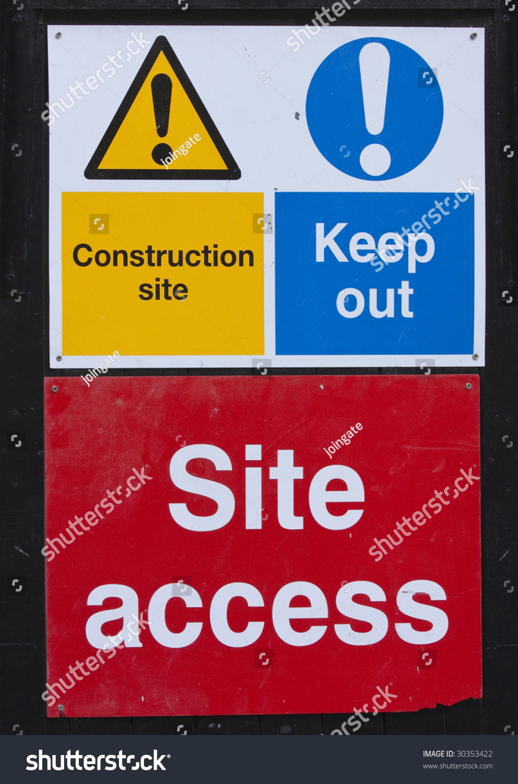 Building Construction Site Safety Signs Stock Photo Edit Now 30353422