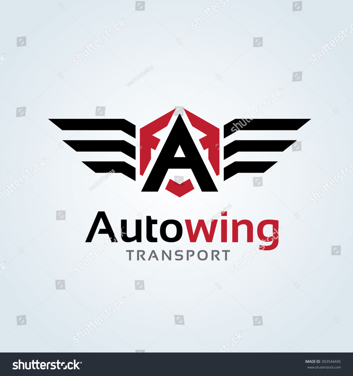 A letter logo automotive car auto wing vector logo for Wing motors automobiles miami fl