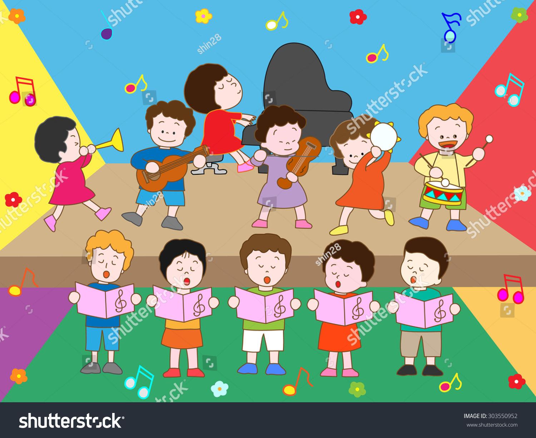 Image result for kids concert cartoon