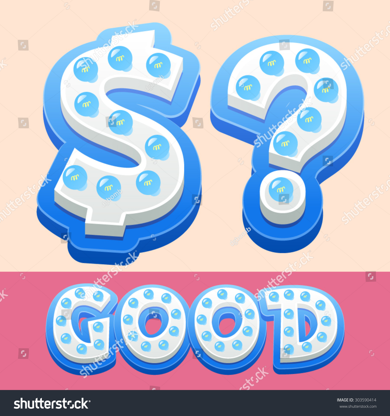 Vector cool lamp alphabet comic style stock vector 303590414 vector cool lamp alphabet in comic style symbols biocorpaavc Image collections