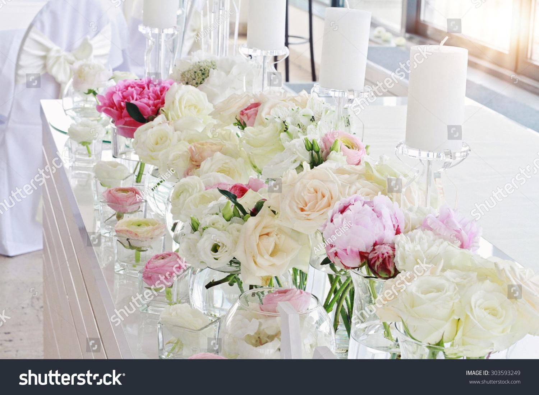 Royalty Free Stylish Unusualglamorous Pink Wedding 303593249