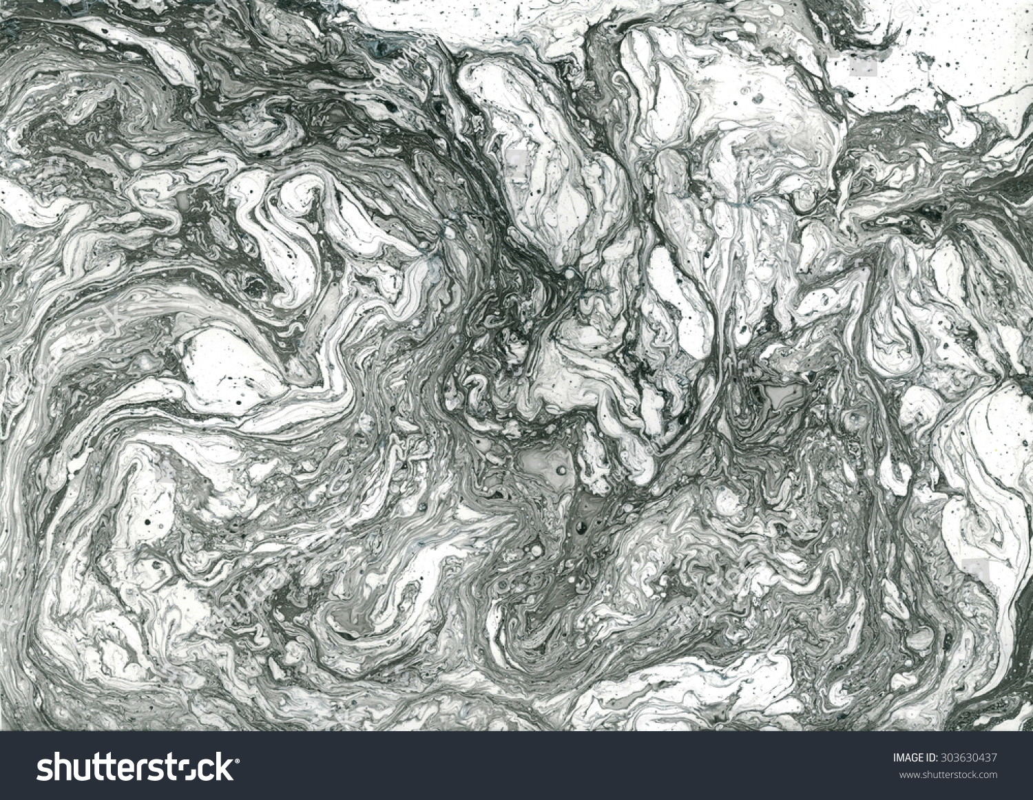 Beautiful abstract background marble modern creative artwork black ink and gray acrylic paint on white surface contemporary art grunge image