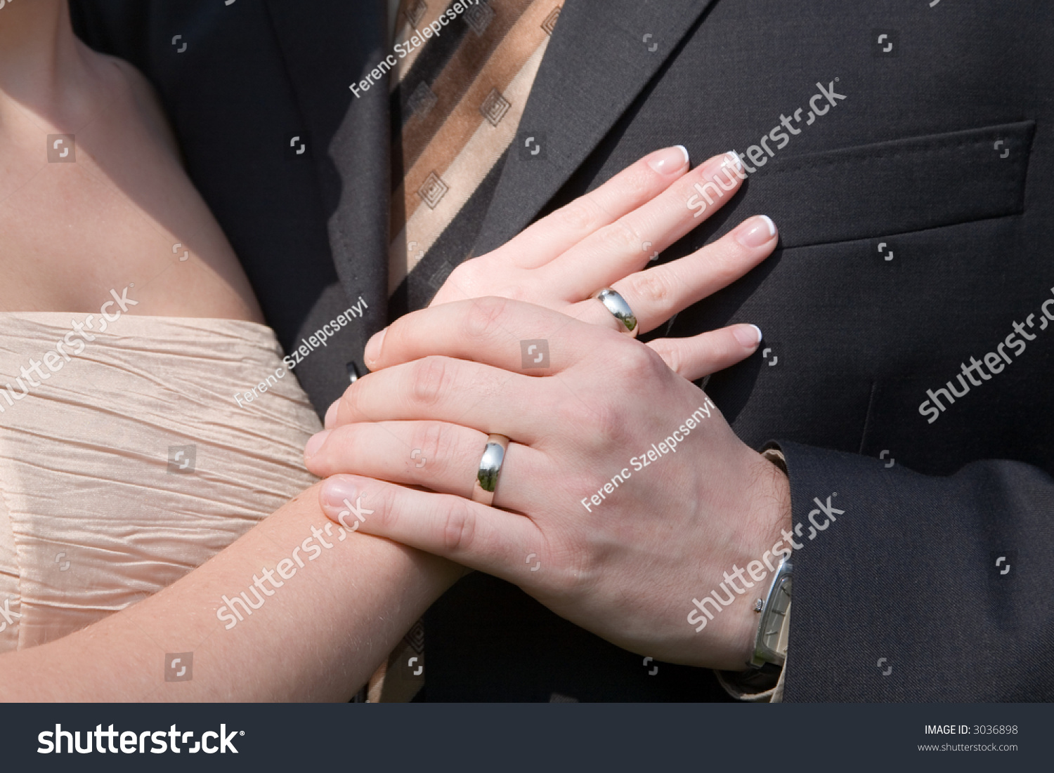 Weddings Rings Holding Hands Stock Photo (Royalty Free) 3036898 ...