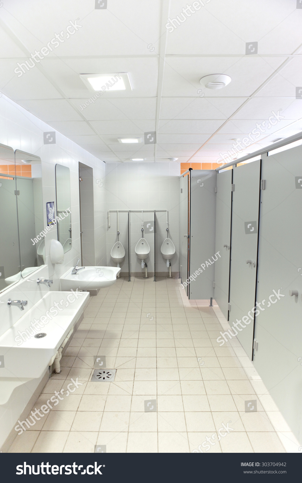 Clean Washroom Toilets School Stock Photo (100% Legal Protection ...
