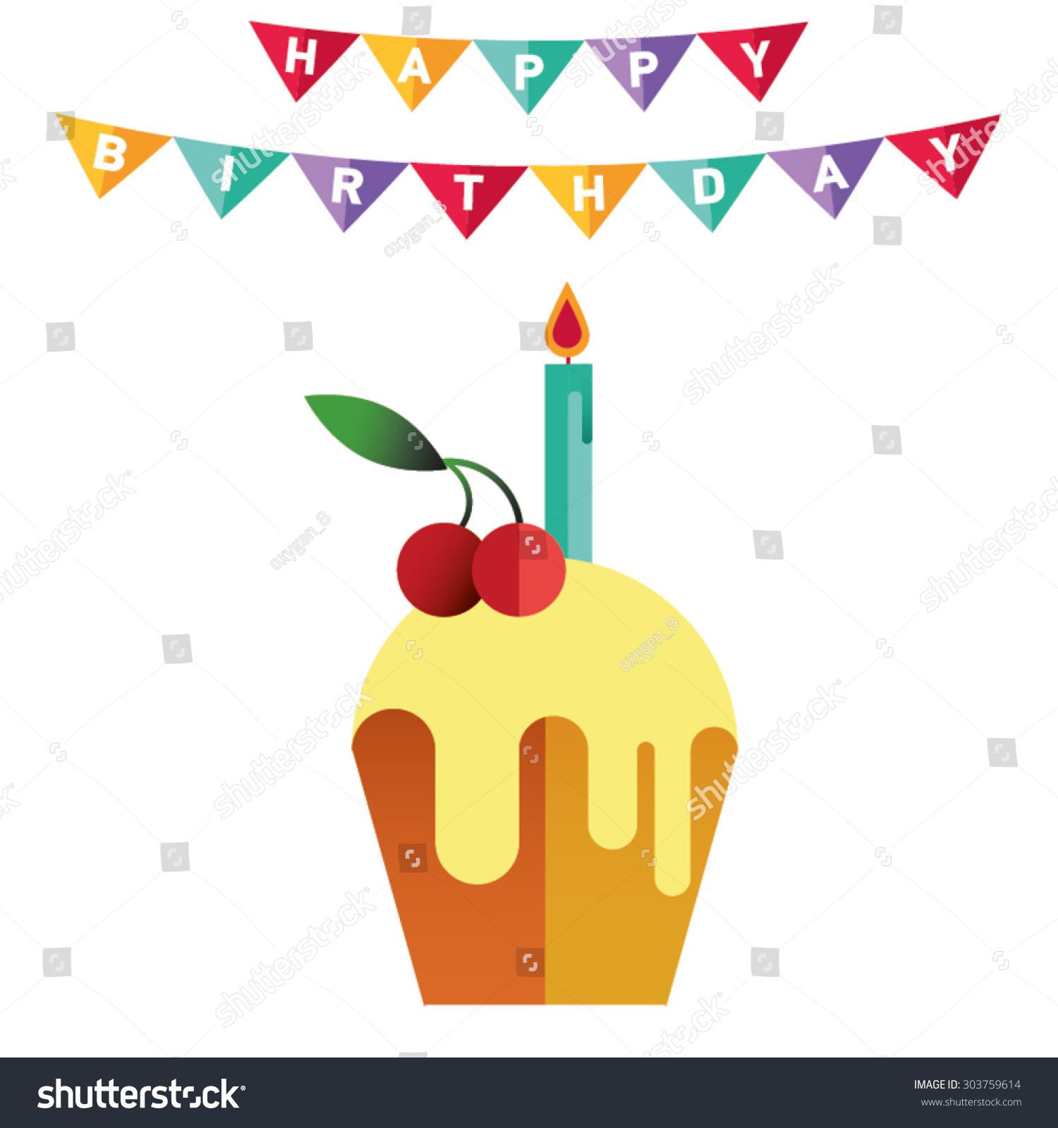 Poster Card Birthday Decoration Like Ribbon Stock Vector 303759614