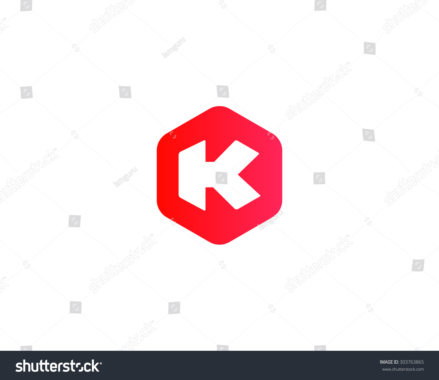 abstract letter k logo design templateのイラスト素材 303763865