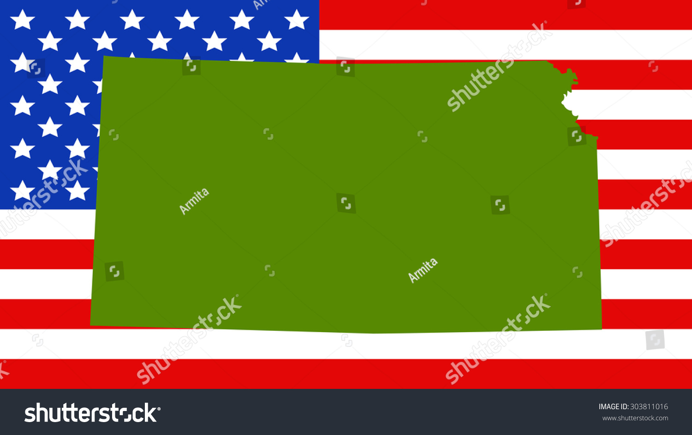 Lujoso Colorear Bandera De Estado De Kansas Patrón - Ideas Para ...