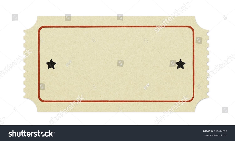 Old Blank Ticket Photo 303824036 Shutterstock – Blank Ticket