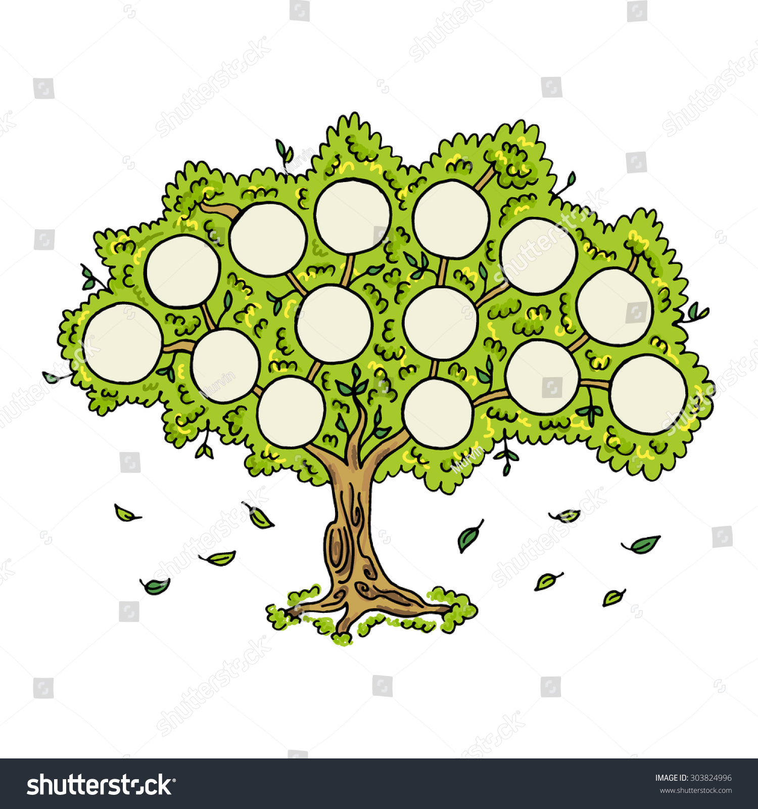 Family tree on white background frames stock vector - Family tree desktop wallpaper ...