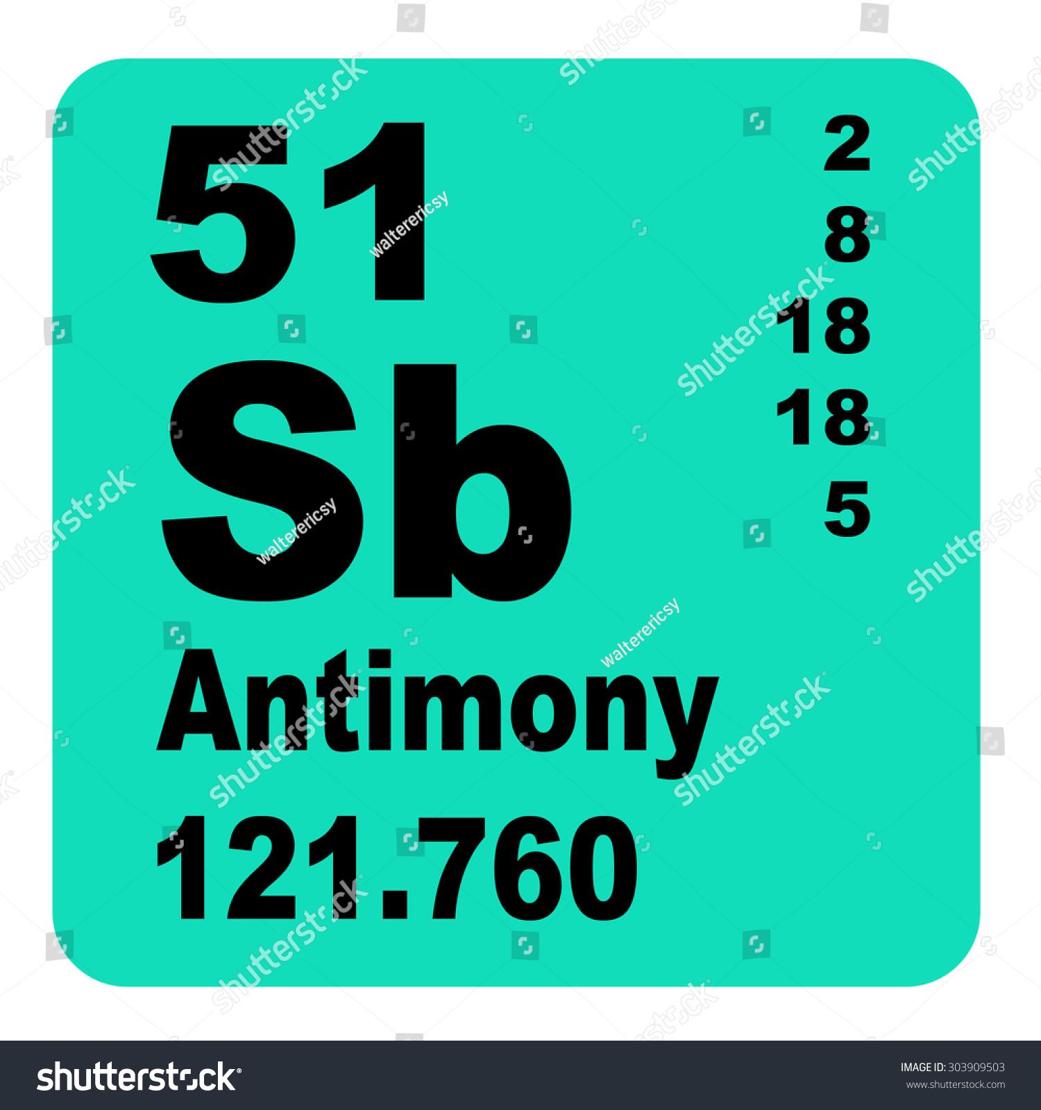 Antimony periodic table elements stock illustration 303909503 antimony periodic table of elements gamestrikefo Choice Image