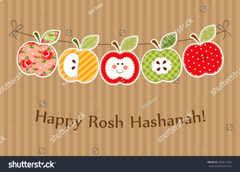 Cute bright apples garland rosh hashanah stock illustration cute bright apples garland as rosh hashanah jewish new year symbols biocorpaavc