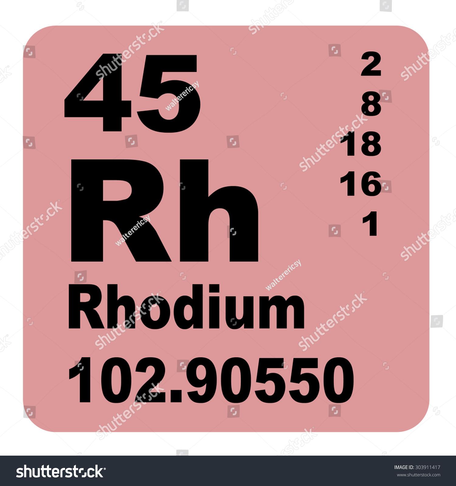Rhodium periodic table elements stock illustration 303911417 rhodium periodic table of elements gamestrikefo Images