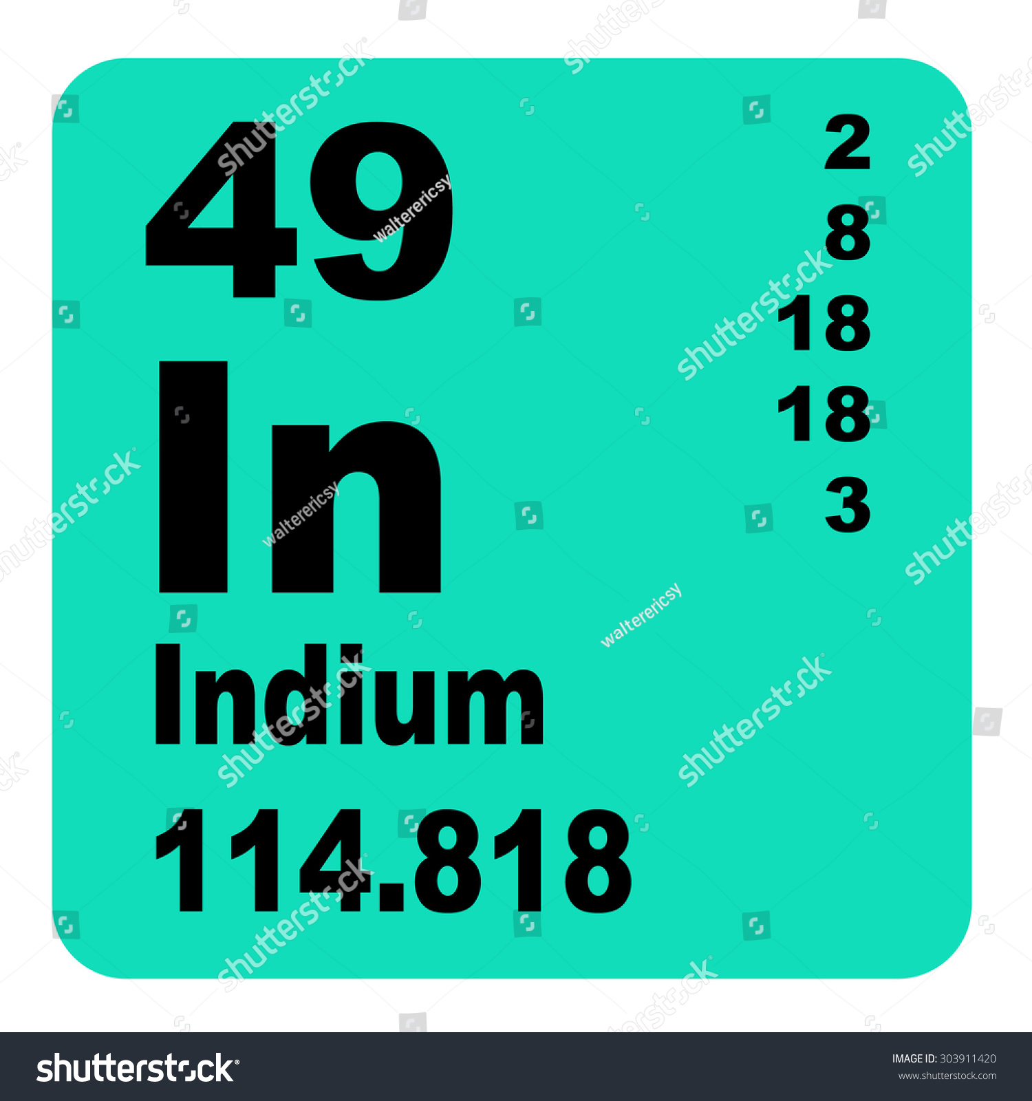Indium periodic table elements stock illustration 303911420 indium periodic table of elements gamestrikefo Gallery