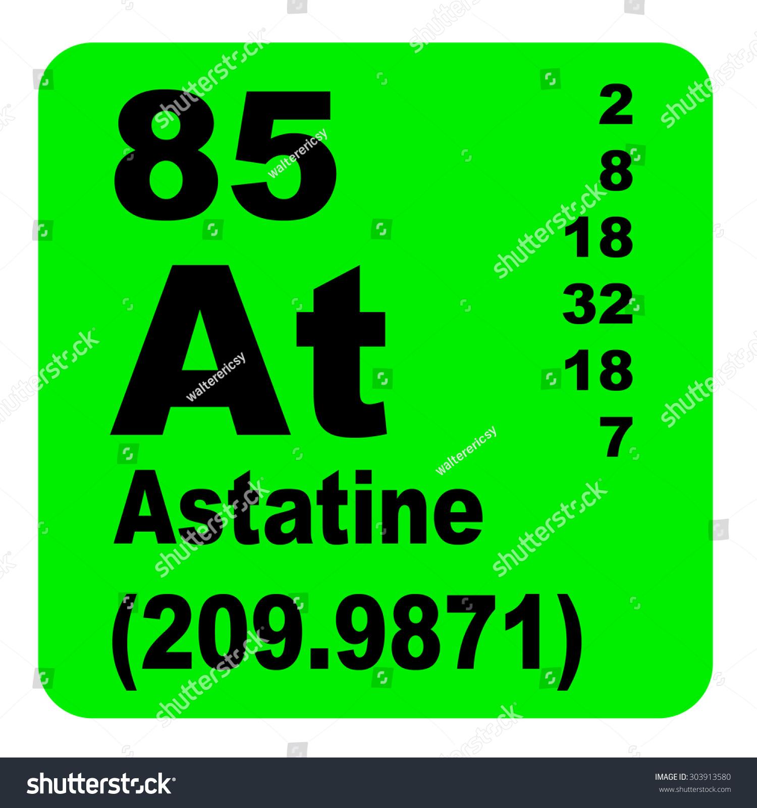 Astatine Periodic Table Elements Stock Illustration 303913580