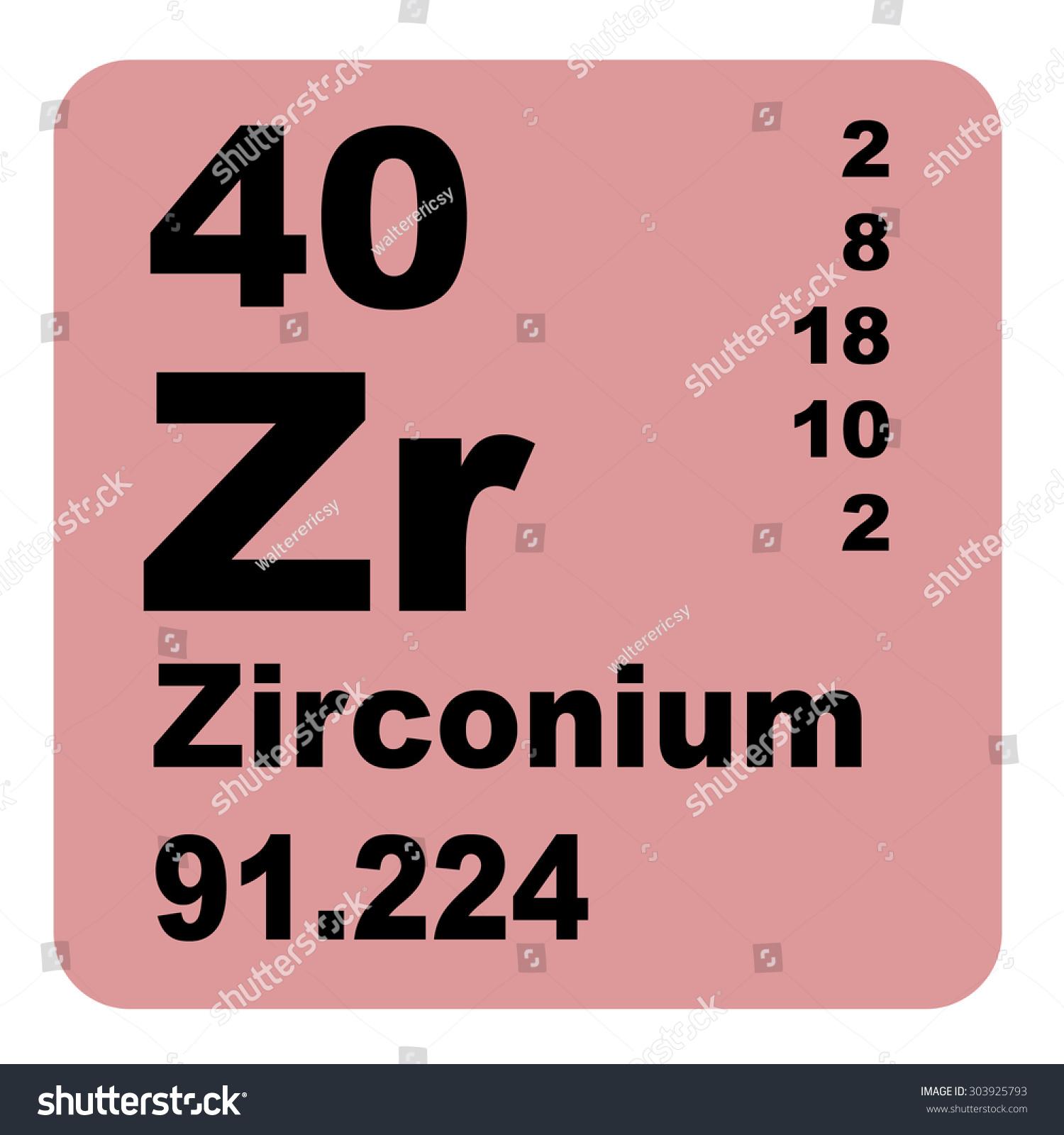 Zirconium periodic table elements stock illustration 303925793 zirconium periodic table of elements gamestrikefo Images