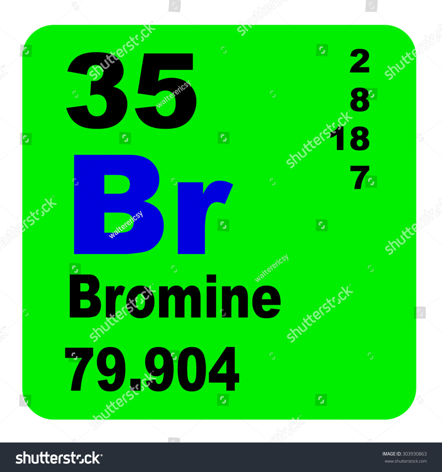 Bromine periodic table elements stock illustration 303930863 bromine periodic table of elements buycottarizona Choice Image